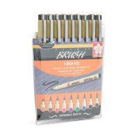 marker sakura pigma brush set 9 pz